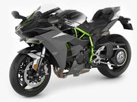 Kawasaki Ninja H2 3D Model