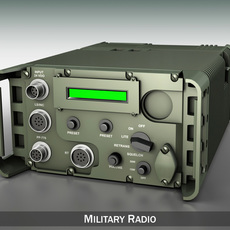 UHF Military data radio 3D Model