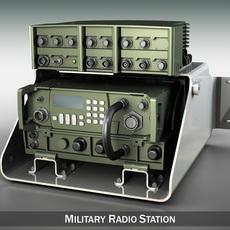 VHF Military radio station 3D Model