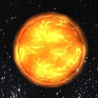 Low poly sun 3D Model
