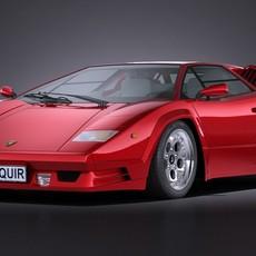 Lamborghini Countach lp500 Anniversary VRAY 3D Model