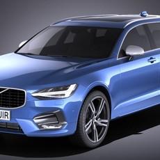 Volvo V90 Estate R design 2017 3D Model