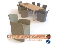 Chair NIDO & Table OMNIA dining set CALLIGARIS 3D Model