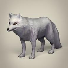 Game Ready White Fox 3D Model