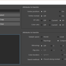 Improved transfer attributes 2.0.0 for Maya (maya script)