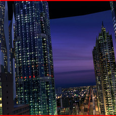 Modern City Animated 003 3D Model