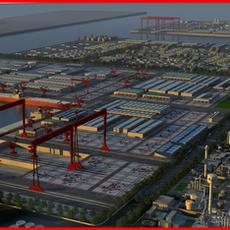 Refinery Port Harbour collection 5 3D Model