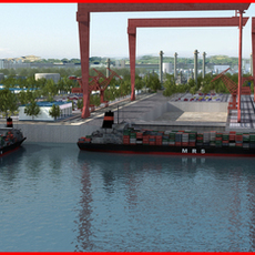 Refinery Port Harbour collection 7 3D Model