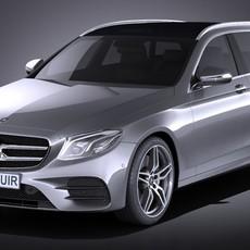 Mercedes E-class 2017 Estate AMG 3D Model