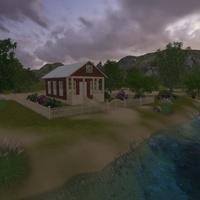 Cottage scene cover