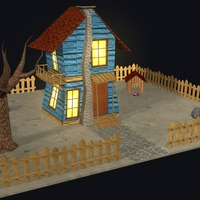 Low polygon cabin cover