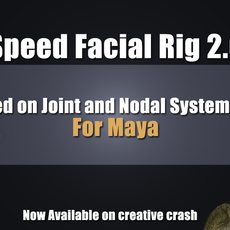 Speed Facial Rig: Full version 2.0.2 for Maya (maya script)