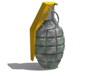 Military Grenade 3D Model