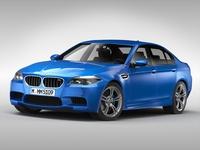 BMW M5 F10 (2015) 3D Model