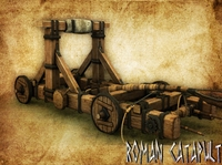 Roman Catapult 3D Model