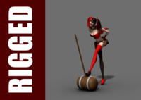 Harley Quinn (Rig) for Maya 1.0.1