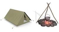 Free Campfire 3D Model