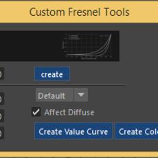 Cusrom Fresnel Tool for Maya 1.0.1 (maya script)