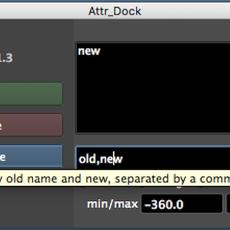 Attr Editor for Maya 1.3.0 (maya script)
