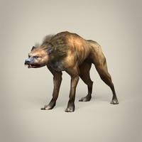 Game Ready Fantasy Hyena 3D Model