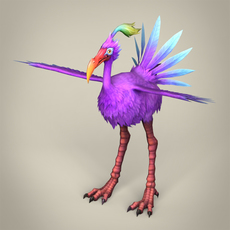 Game Ready Fantasy Bird Ibis 3D Model