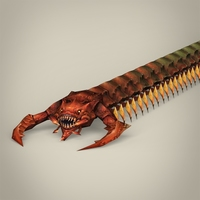 Game Ready Fantasy Centipede 3D Model
