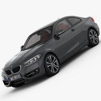 BMW 2 Series F22 Sport Line 2015 3D Model