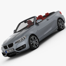 BMW 2 Series F23 Convertible 2015 3D Model