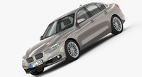 BMW 3-Series Luxury Line 2016 3D Model
