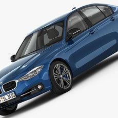 BMW 3-Series Sport Line 2016 3D Model