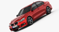 BMW 3-Series M Sport Package 2016 3D Model