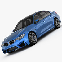 BMW M3 F80 2015 3D Model