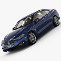 BMW 4 Series F32 Luxury Line 2014 3D Model