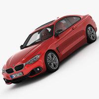 BMW 4 Series F32 Sport Line 2014 3D Model