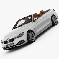BMW 4 Series Convertible F33 2014 3D Model
