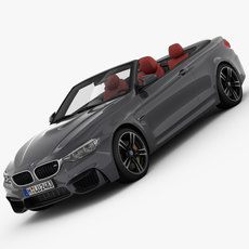 BMW M4 Convertible F83 2015 3D Model