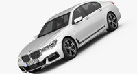 BMW 7-series M Sport package 2016 3D Model