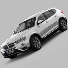 BMW X3 F25 xLine 2015 3D Model