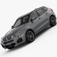 BMW X3 F25 M Sport Package 2015 3D Model