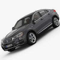 BMW X4 F26 xLine 2015 3D Model