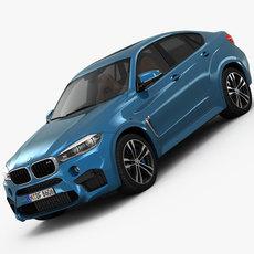BMW X6 M 2016 3D Model