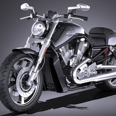 Harley-Davidson V-rod Muscle 2016 3D Model