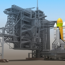 Shuttle Launch Pad 3D Model