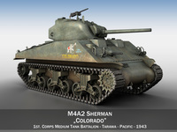 M4A2 Sherman - Colorado 3D Model