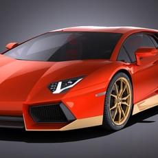 Lamborghini Aventador Miura Homage 2016 3D Model