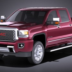 GMC Sierra Denali 2500HD 2017 3D Model