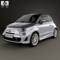 Fiat 500 C Abarth Esseesse 2010 3D Model