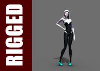 Free Spider-Gwen (Rig) for Maya 1.0.2