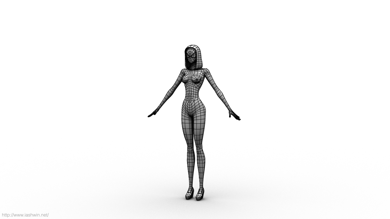 Spider-Gwen (Rig) for Maya - Free Character Rigs Downloads for Maya