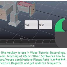 Mouse Keyboard OSD for Video Tutors - Moukey 2.2.0